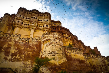 Mehrangarh Fort ramparts horizontal