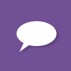 chat flat icon design vector illustration