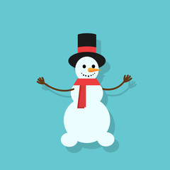 snowman icon silhouette flat design vector