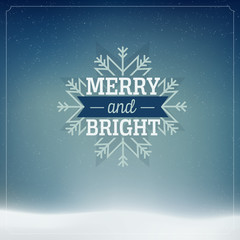 Merry Christmas and Happy New Year Vintage background