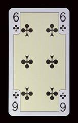 Spielkarten der Ladys - Kreuz Sechs