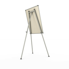 advertising stand or easel back view isolated on white backgroun