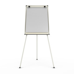 Advertising stand or easel front view isolated on white backgrou