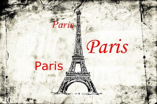 Paris art design illustration - 73211720