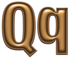 Q letter of golden alphabet