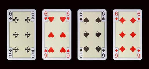 Spielkarten der Ladys -SECHS