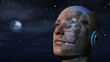 Leinwanddruck Bild - Cyborg Woman - Humanoid