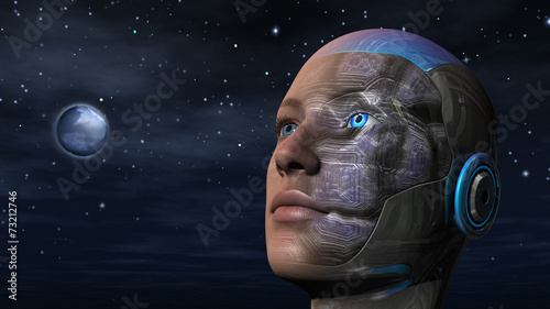 Leinwanddruck Bild Cyborg Woman - Humanoid
