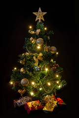 Christmas tree with lights
