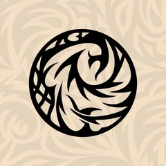 brown tribal circle vector background