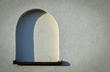 blank arched window