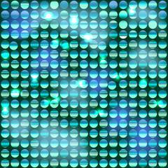 Фон из блестящих дисков с бирюзовым оттенком
