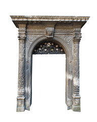 architectural arch on a white background
