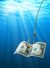 Dollar on the hook