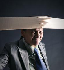 Woman breaks wooden strip