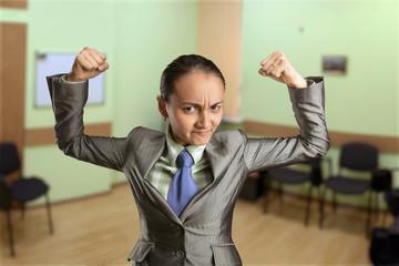 Strong woman in the office