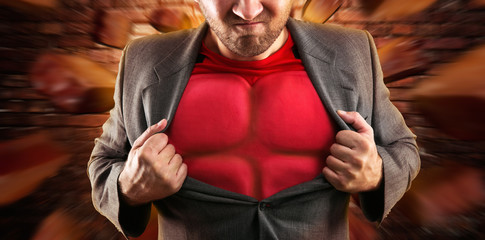 Superhero inside th businessman