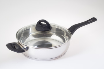Pan with glass cover