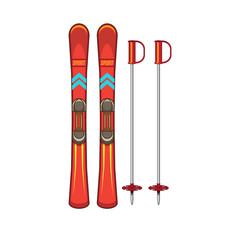 Ski and sticks.