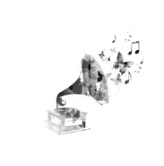 Old gramophone design