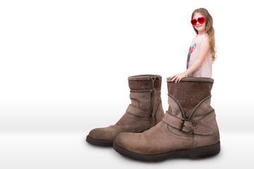 Bambina con stivali
