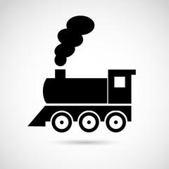 Locomotive icon. VECTOR art.