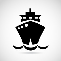 Ship VECTOR icon isolated on white background.