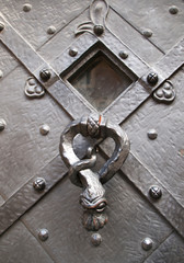 Detail of medieval door knocker