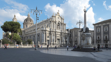 Cathedral Of Saint Agatha In Catania, Sicily