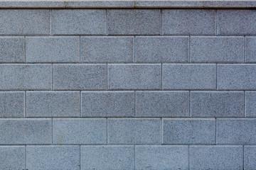 Neue Steinmauer aus Ziegelsteinen
