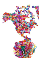 Map of North America made of confetti / with clipping path