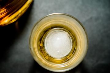 上から見たウイスキー