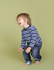 Child Playing Jumping Dancing and Having FUn