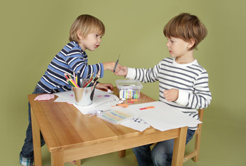 Kids Arts and Crafts Activity, Sharing