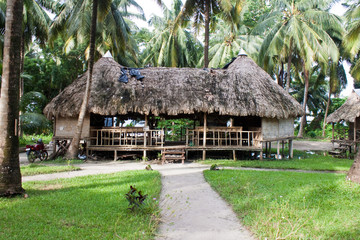 Hut at tropical resort