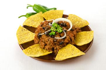 Nachos and chili con carne