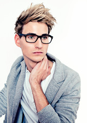 handsome man with glasses - guy 07