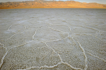 Badlands salt pan, Death Valley, Mojave desert,California