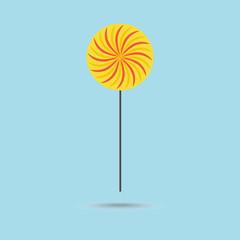 Yellow lollipop