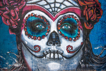 background graffiti beautiful catrina
