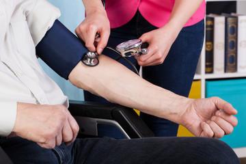 Pressure measurement in a hospice