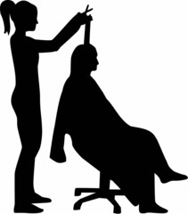Hairdresser Silhouette Haircutter