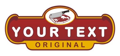 meat store vintage emblem