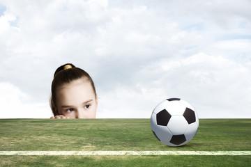 Little soccer player
