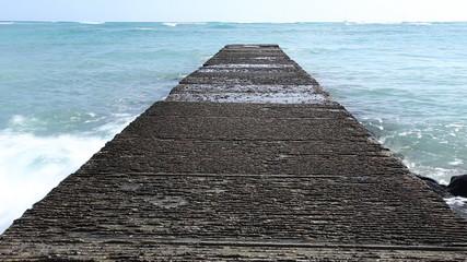 Walk path into the sea