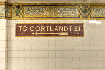Cortlandt Street Subway Station, New York