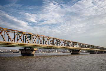 Pancevo bridge in Belgrade, Serbia