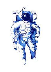 Abstract illustration of an astronaut