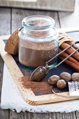 Cocoa powder in a jar