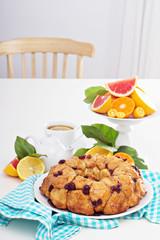 Orange cranberry monkey pull-apart bread